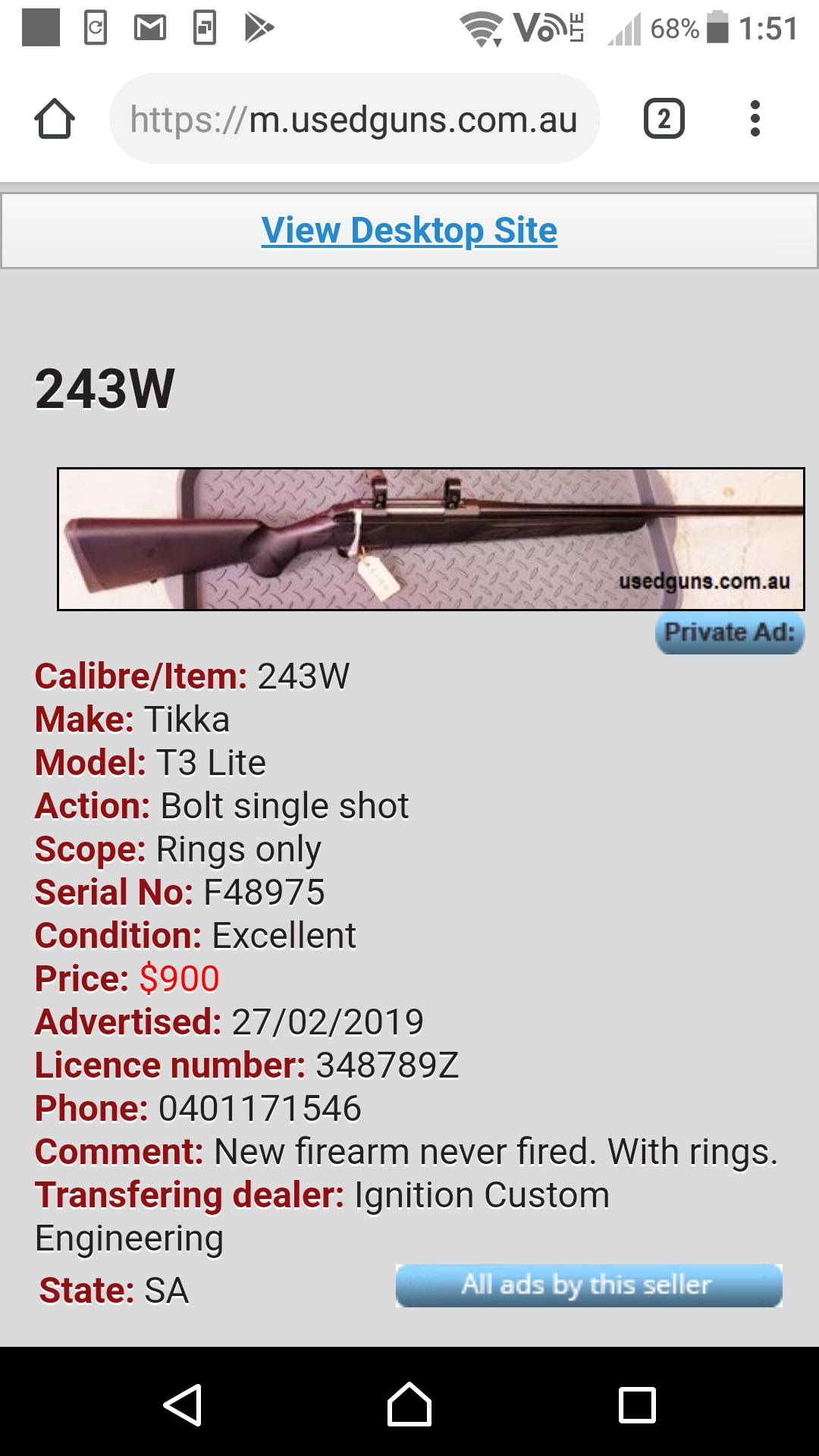Budget 243 • Enough Gun