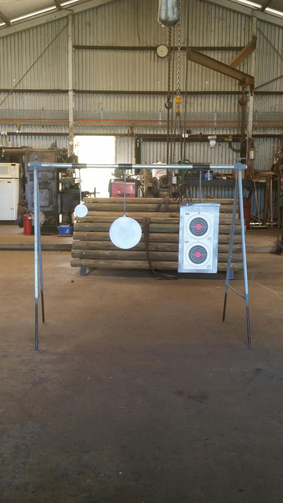 Homemade steel shooting targets